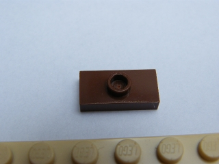 LEGO 15573 - Reddish Brown Plate, Modified 1 x 2