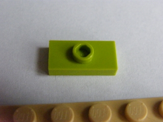 LEGO 3794 - Lime Plate, Modified 1 x 2 with 1 Stud