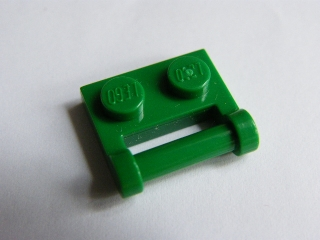 LEGO 48336 - Green Plate, Modified 1 x 2 with Handle on Side