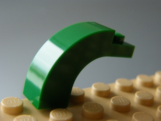 LEGO 6005 Green Brick, Arch 1 x 3 x 2 Curved Top