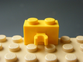 LEGO 30237 Yellow Brick, Modified 1 x 2 with Vertical Clip