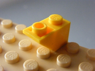 LEGO 3665 Yellow Slope, Inverted 45 2 x 1