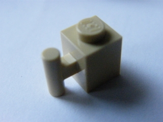 LEGO 2921 - Tan Brick, Modified 1 x 1 with Handle