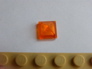 LEGO 22388 Trans Orange Slope 45 1 x 1 x 2/3 Quadruple Convex Pyramid