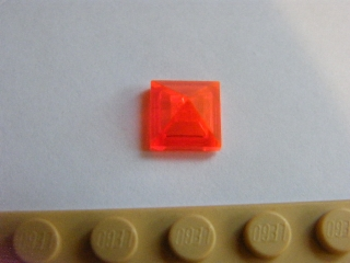 LEGO 22388 Trans-Neon Orange Slope 45 1 x 1 x 2/3 Quadruple Convex Pyramid