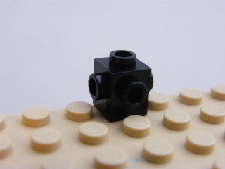 LEGO 4733 Black Brick, Modified 1 x 1 with Studs on 4 Sides