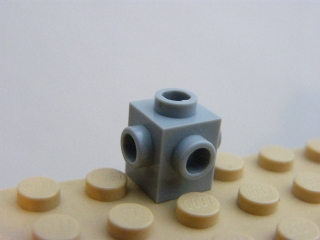 LEGO 4733 Light Bluish Gray Brick, Modified 1 x 1 with Studs on 4 Sides