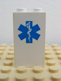 LEGO 2362pb02 Panel 1 x 2 x 3 with EMT Star of Life Pattern