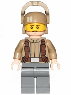 LEGO STAR WARS 697 - Resistance Trooper - Dark Tan Jacket, Frown, Furrowed Eyebr