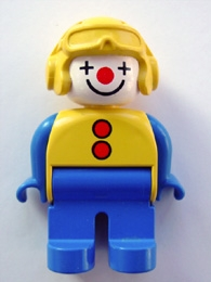 Duplo Figure 4555pb183 - Male Clown