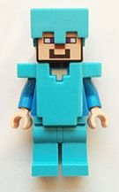LEGO MINECRAFT 015 Steve - Medium Azure Helmet and Armor