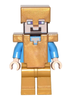 LEGO MINECRAFT 031 - Steve - Pearl Gold Helmet, Armor and Legs