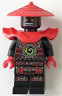 LEGO NINJAGO 222 - Swordsman - Dark Red Markings