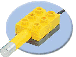 LEGO 2980c01 - Yellow Electric, Sensor, Temperature with Short Lead