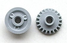 LEGO 87407 - Light Bluish Gray Technic, Gear 20 Tooth Bevel with Pin Hole