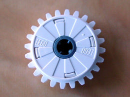 LEGO 60c01 - White Technic, Gear 24 Tooth Clutch